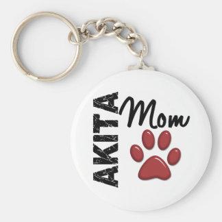 Akita Mom 2 Key Ring