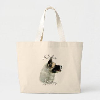 Akita Mom 2 Large Tote Bag