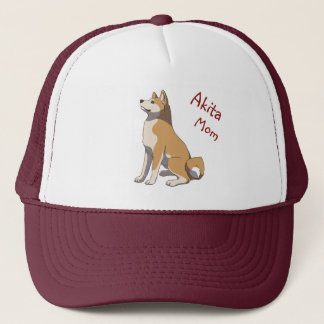"""Akita mom"" more trucker cap"