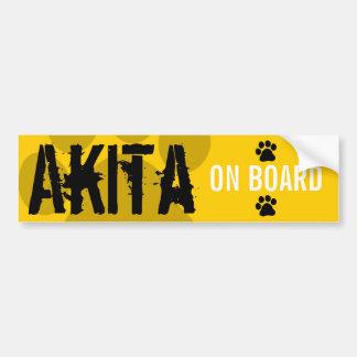Akita on Board Bumper Sticker
