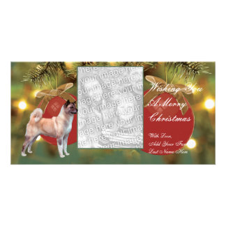 Akita Ornament Christmas Photocard Picture Card