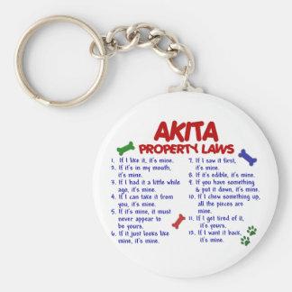 AKITA Property Laws 2 Key Ring