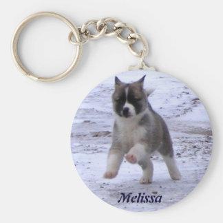 Akita Pup Key Ring