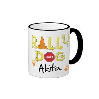 Akita Rally Dog Coffee Mug
