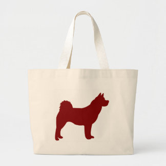 Akita (Red) Large Tote Bag