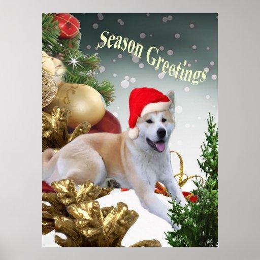 AKITA Season Greetings Print