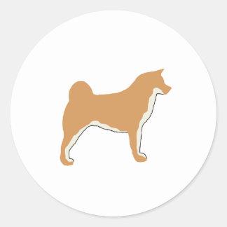 akita silo color2.png classic round sticker