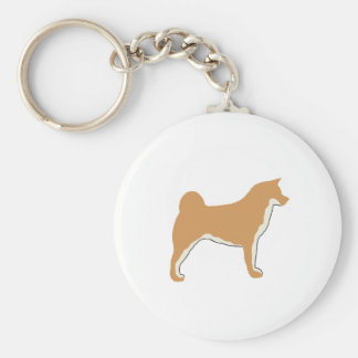 akita silo color2.png basic round button keychain