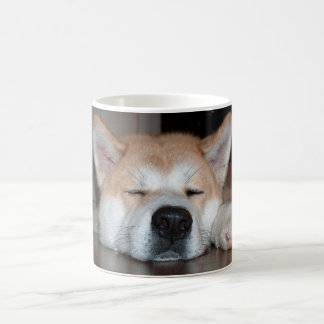 akita sleeping.png coffee mug