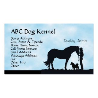 Akita Western Silhouette Pack Of Standard Business Cards