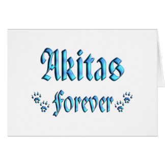 Akitas Forever Card