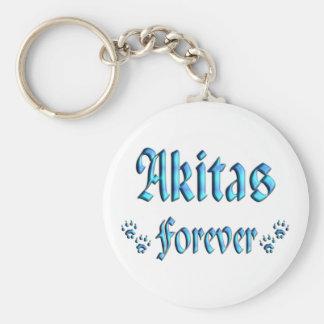 Akitas Forever Key Ring