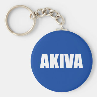 Akiva Basic Round Button Key Ring