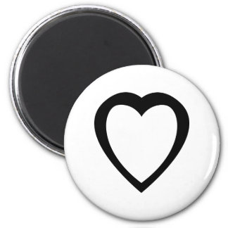 Akoma   Symbol for Patience and Tolerance 6 Cm Round Magnet