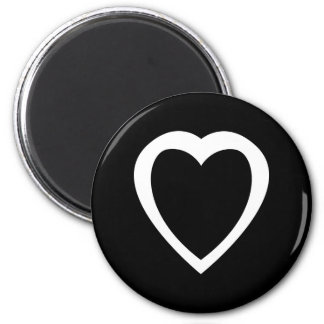Akoma   Symbol for Patience and Tolerance White 6 Cm Round Magnet