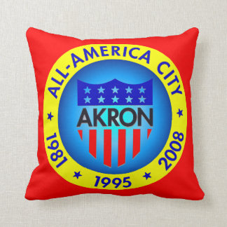 Akron All America Throw Pillow. Cushion