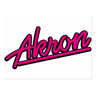 Akron in magenta business card