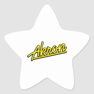 Akron in yellow sticker