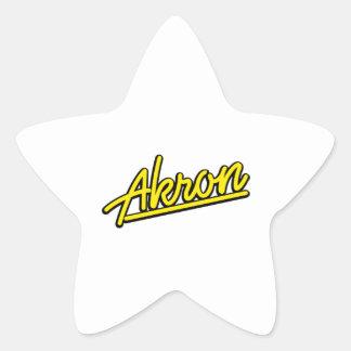 Akron in yellow sticker