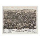 Akron, OH Panoramic Map - 1882 Poster