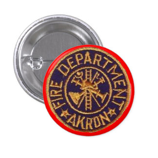 Akron Ohio Fire Department Buttons. 3 Cm Round Badge