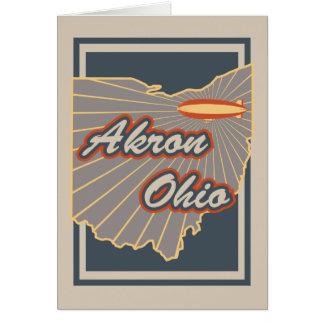 Akron, Ohio Greeting Card - Travel Print v2
