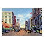 Akron Ohio Main Street in the 40s Poster