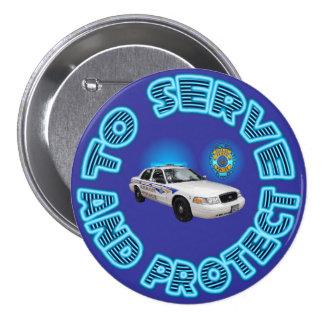 Akron Ohio Police Department Button. 7.5 Cm Round Badge