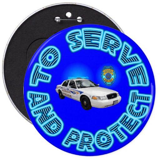 Akron Ohio Police Department Button.