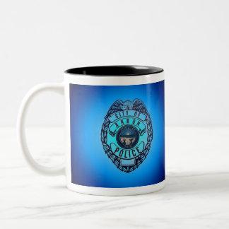 Akron Ohio Police Department Mug. Two-Tone Coffee Mug