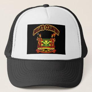 Akua's Country Kanaka Maoli Flag Twins Trucker Hat