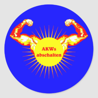 AKW AKW switch off nuclear power Round Sticker