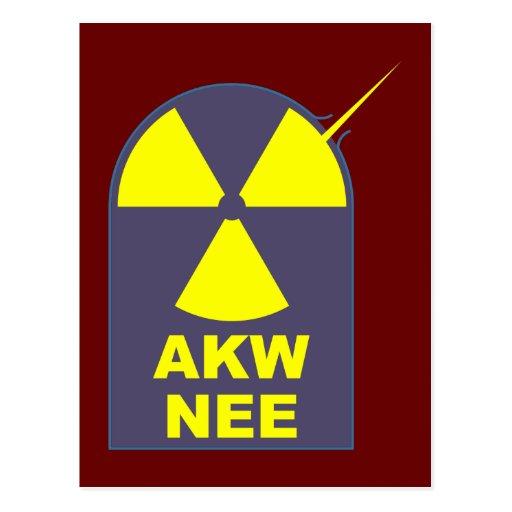 AKW no nee nuclear power nuclear power Post Card