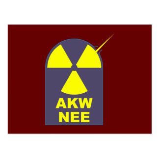 AKW no nee nuclear power nuclear power Postcard