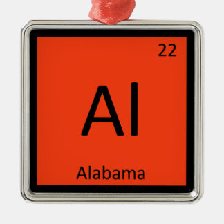 Al - Alabama State Chemistry Periodic Table Symbol Christmas Ornament