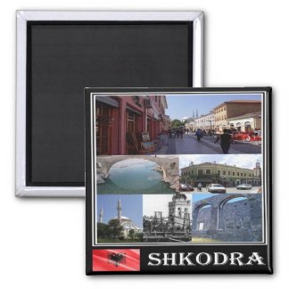 AL - Albania  - Shkodër - Collage Mosaic Square Magnet