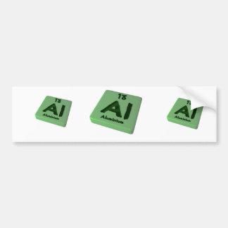 Al Aluminium Car Bumper Sticker