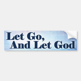 Al-anon - Let Go And Let God Bumper Sticker