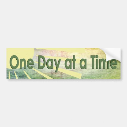 Al-anon - One Day At A Time Bumper Sticker