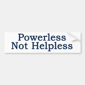 Al-anon - Powerless, Not Helpless Bumper Sticker