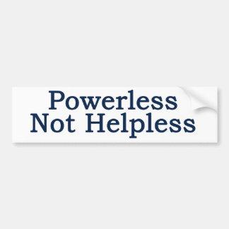 Al-anon - Powerless, Not Helpless Bumper Stickers