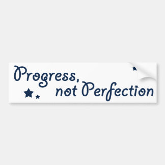 Al-anon - Progress, not Perfection Bumper Sticker