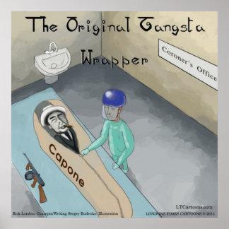 Al Capone s Funeral Funny Poster Print