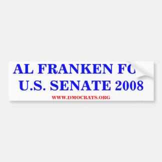 AL FRANKEN FOR U.S. SENATE 2008 Sticker Bumper Sticker