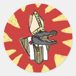 Al G. for Pope Round Sticker