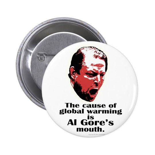 Al Gore Global Warming Black 6 Cm Round Badge