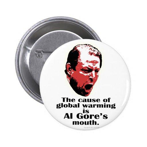 Al Gore Global Warming Black Pins