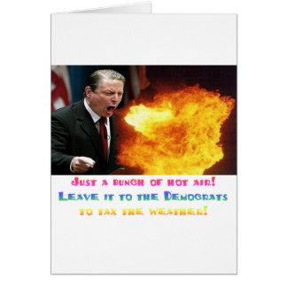 Al Gore Hot Air Greeting Card