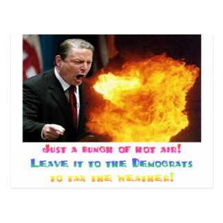 Al Gore Hot Air Postcard