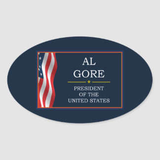 Al Gore President V3 Oval Sticker